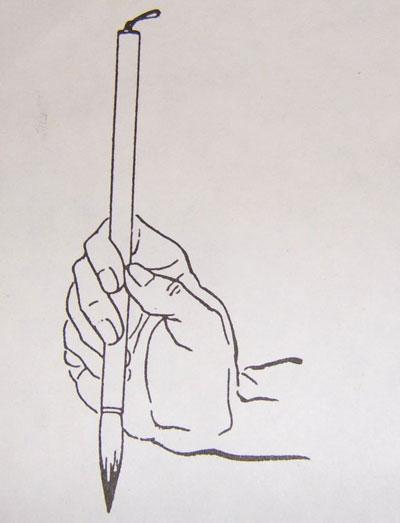 毛笔执笔方法