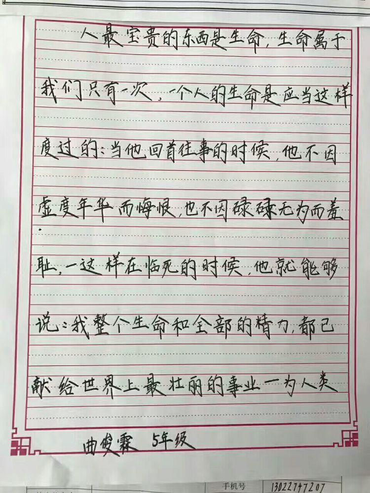 锋格练字,50课时变化
