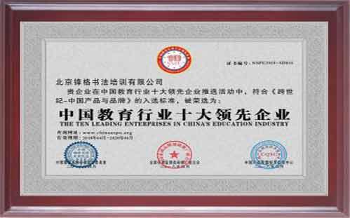 中国教育行业十大领先企业