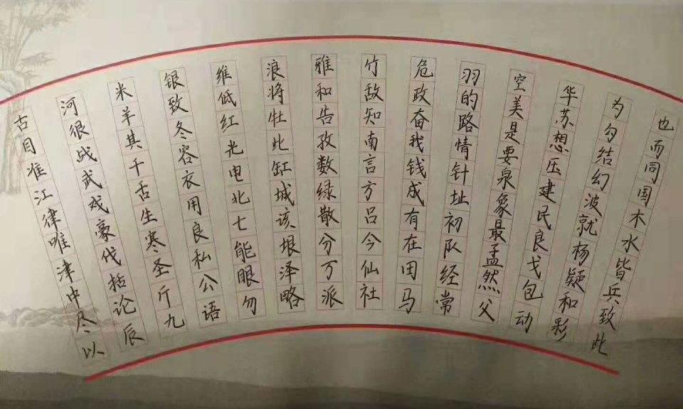 锋格练字小学生硬笔书法作品展示