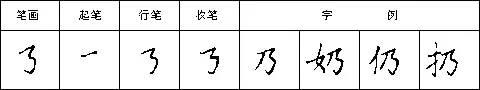 横折折折钩的写法