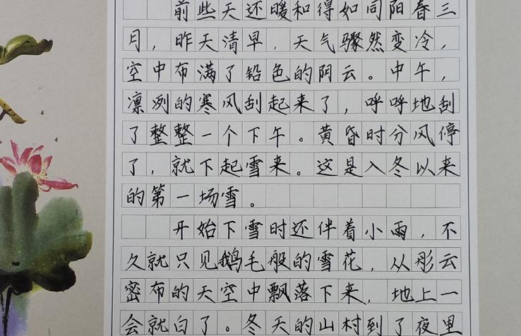 长沙锋格练字加盟分校学员硬笔书法作品